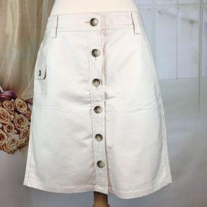 Ann Taylor Button Up A-line Skirt